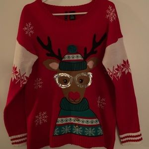 Ugly Christmas Holiday Reindeer Sweater